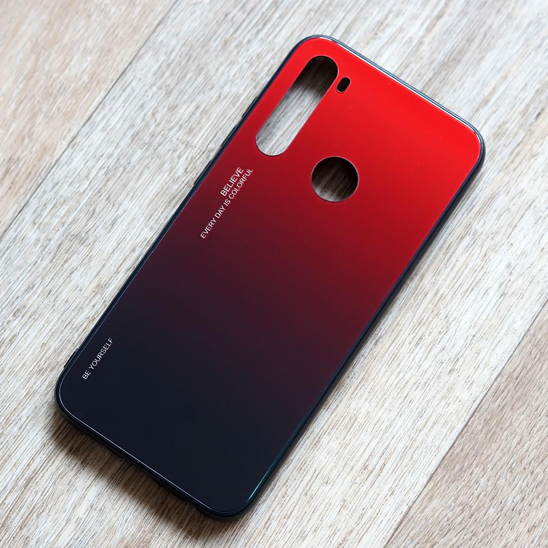 TPU чехол Gradient для Xiaomi Redmi Note 8 (краcно-черный)