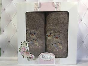 Набор подарочный хлопковые полотенца Durul 2в1, 3D новинка №35! Турция.