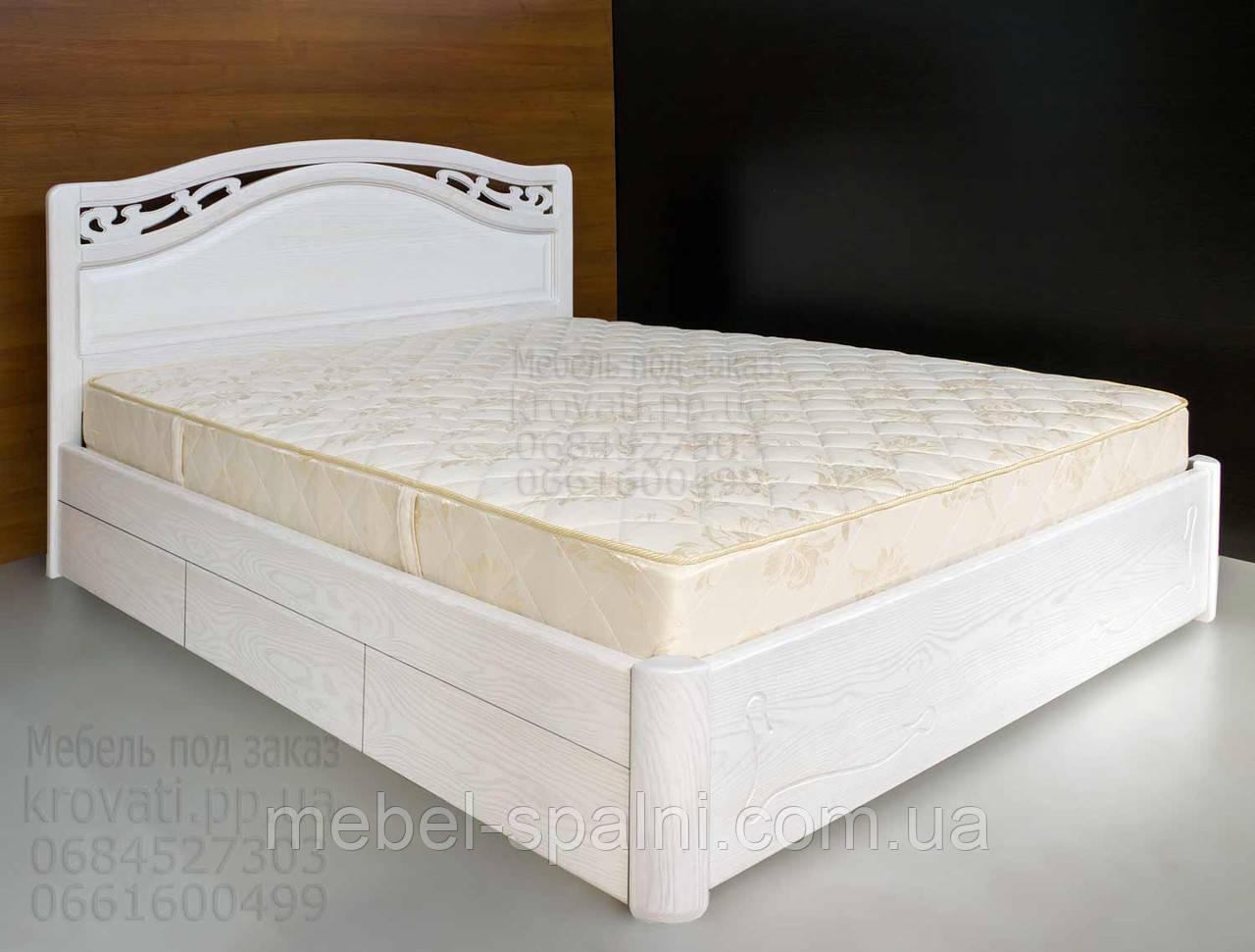 """Кровать в Чернигове деревянная полуторная с ящиками """"Марго"""" kr.mg5.3"""