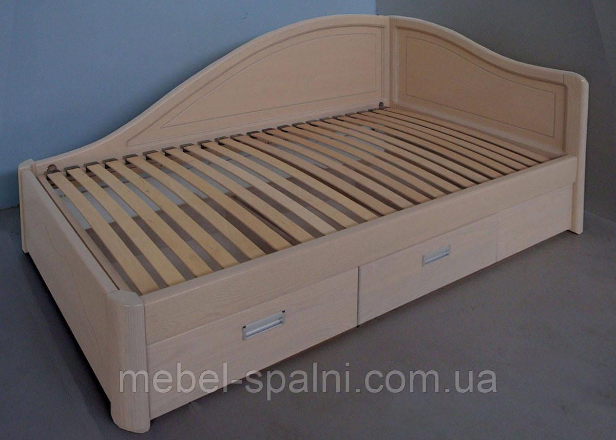 """Кровать в Чернигове деревянная полуторная с ящиками """"Анна"""" kr.an5.1"""