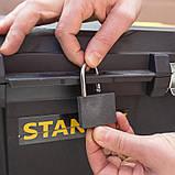 "Ящик STANLEY STST1-80150 ""ESSENTIAL  CHEST"", 665x404x344 мм, объем 50 л, пластиковый, колеса., фото 5"