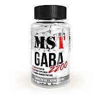 Аминокислота MST Nutrition GABA 2200 100 капсул  (25 порций)