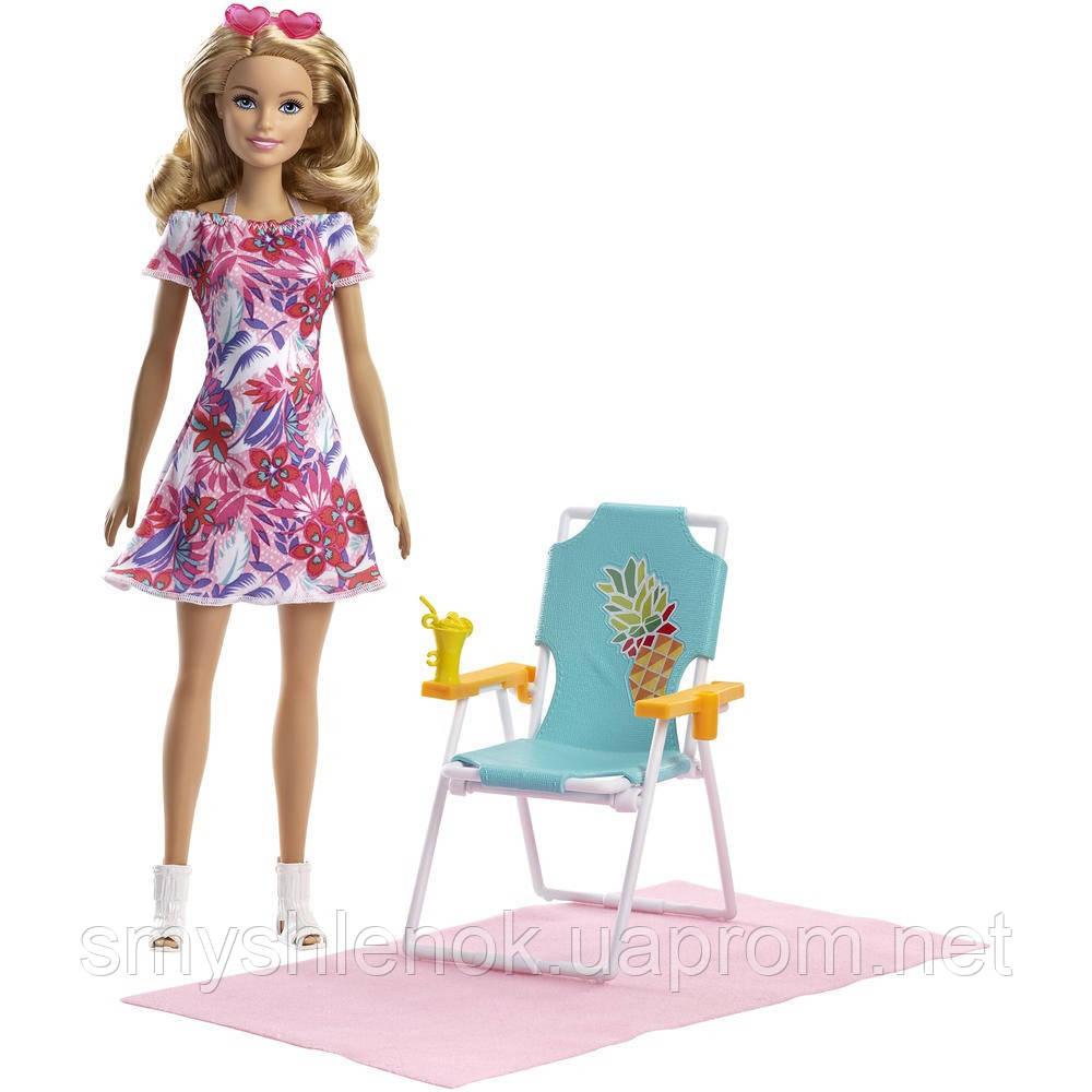 Кукла Барби с шезлонгом Barbie Beach Doll