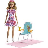 Кукла Барби с шезлонгом Barbie Beach Doll, фото 1