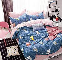 Комплект постельного белья Совята сатин (Двуспальный)