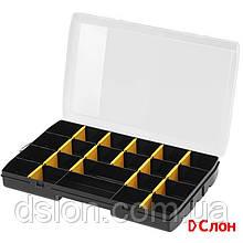 Органайзер STANLEY  SSTST81680-1 пластмассовый, 272 × 189 × 46 мм,  17 отсеков и переставными перегородками