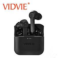 Наушники bluetooth 5.0 Vidvie X-Pods, IPX5 водонепроницаемые,с зарядным кейсом, черный