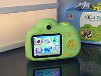 Детский фотоаппарат, Kids Camera c дисплеем, детская фотокамера, Зеленая