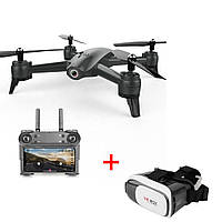 Квадрокоптер S165 2 камеры Ultra HD 4K + 720p 20 минут полёта черный стабилизация