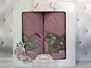 Набор подарочный хлопковые полотенца Durul 2в1, 3D новинка №41! Турция