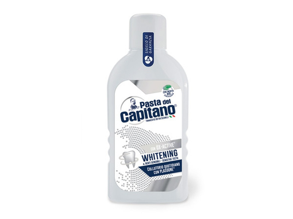 Антисептики для обработки полости рта Pasta Del Capitano, Whitening, 400 мл