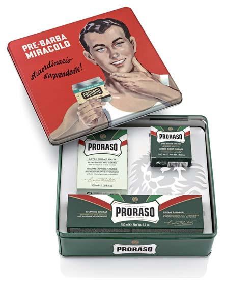 Оригинальный мужской подарочный набор для бритья с 3-х предметов Proraso vintage selection gino