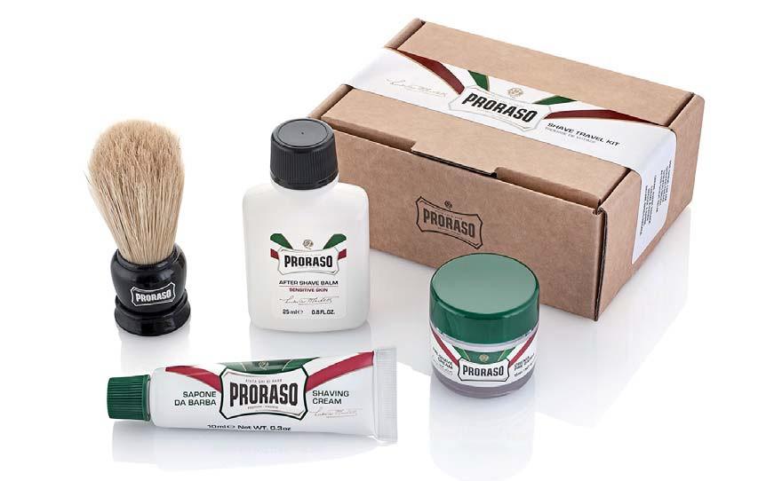 Мужской набор для бритья в дороге Proraso shave travel kit refresh