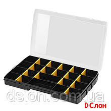Органайзер STANLEY STST81681-1 пластмассовый, 357 × 229 × 48 мм, с 22-мя отсеками и переставными перегородками