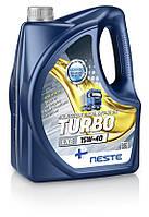 Масло моторное минеральное Neste Turbo LXE 15W40 (API CI-4/SL), 4л