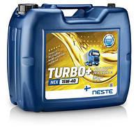 Масло моторное синтетическое Neste Turbo + NEX 15W40, 18кг