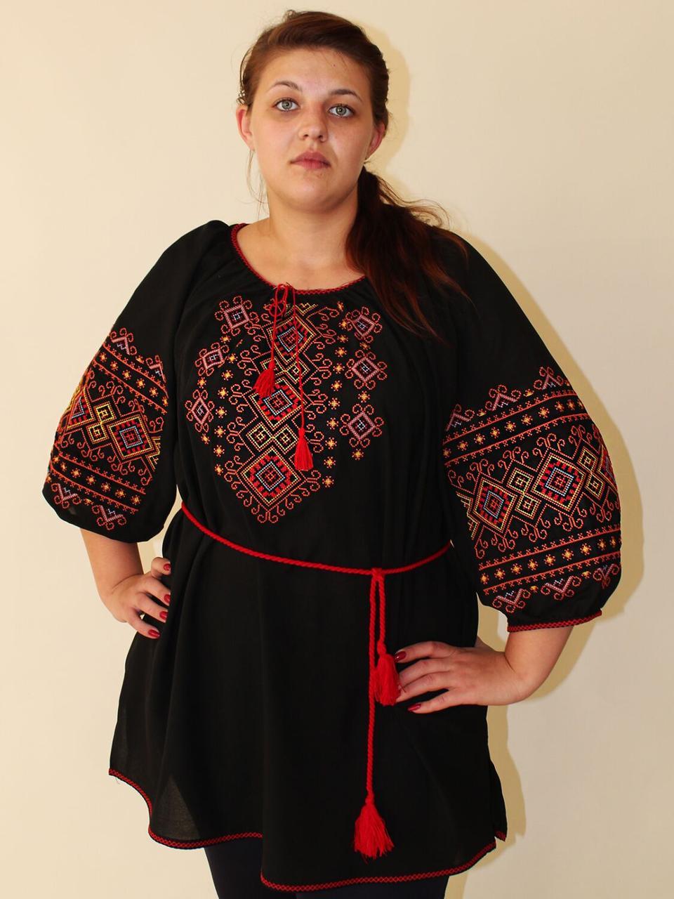 "Женская вышитая блуза ""Орнамент"", 62"