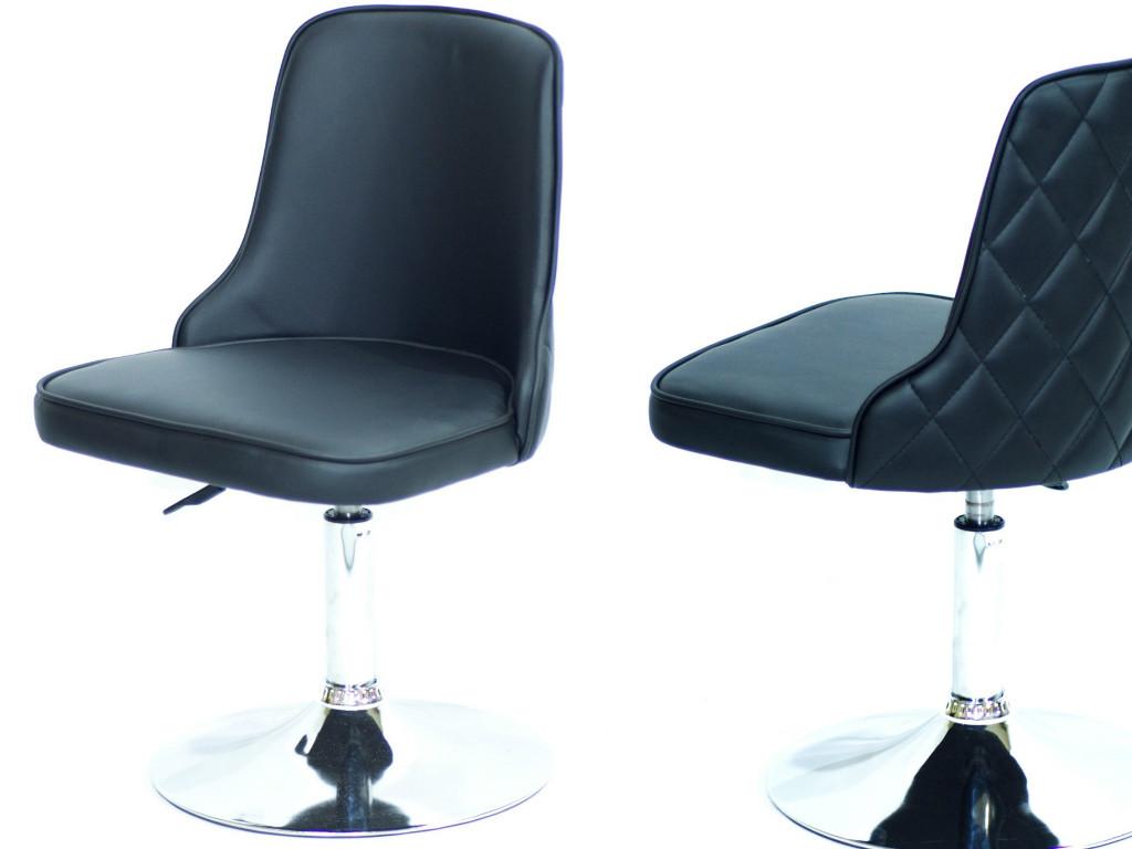 Кресло Адам ADAM CH-BASE черная экокожа на блине