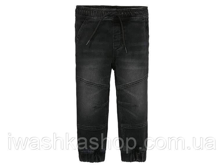 Удобные джинсовые штаны, джоггеры на мальчика 3 - 4 лет, р. 104, Lupilu