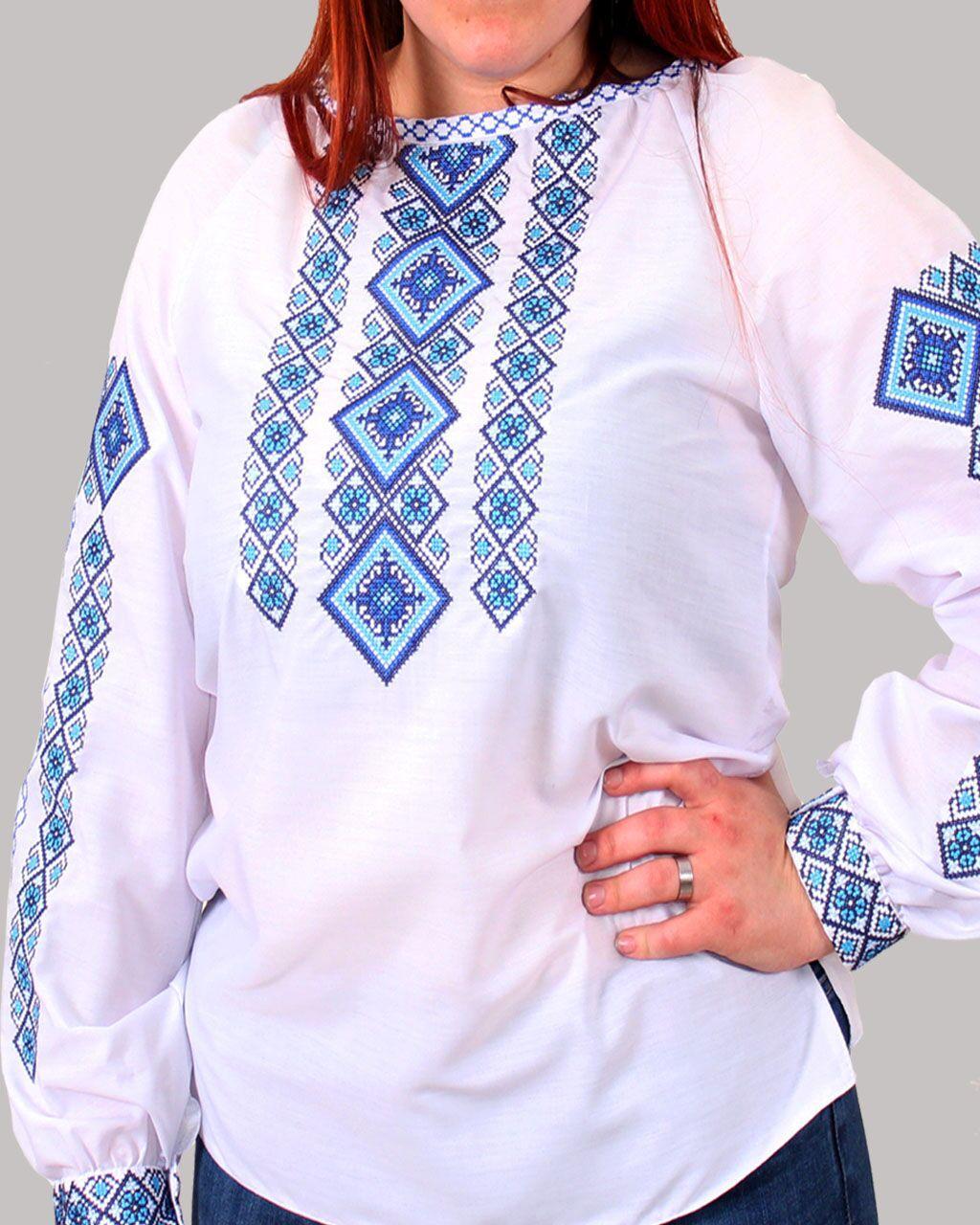 """Женская вышитая блуза """"Александра"""" №4, 44"""