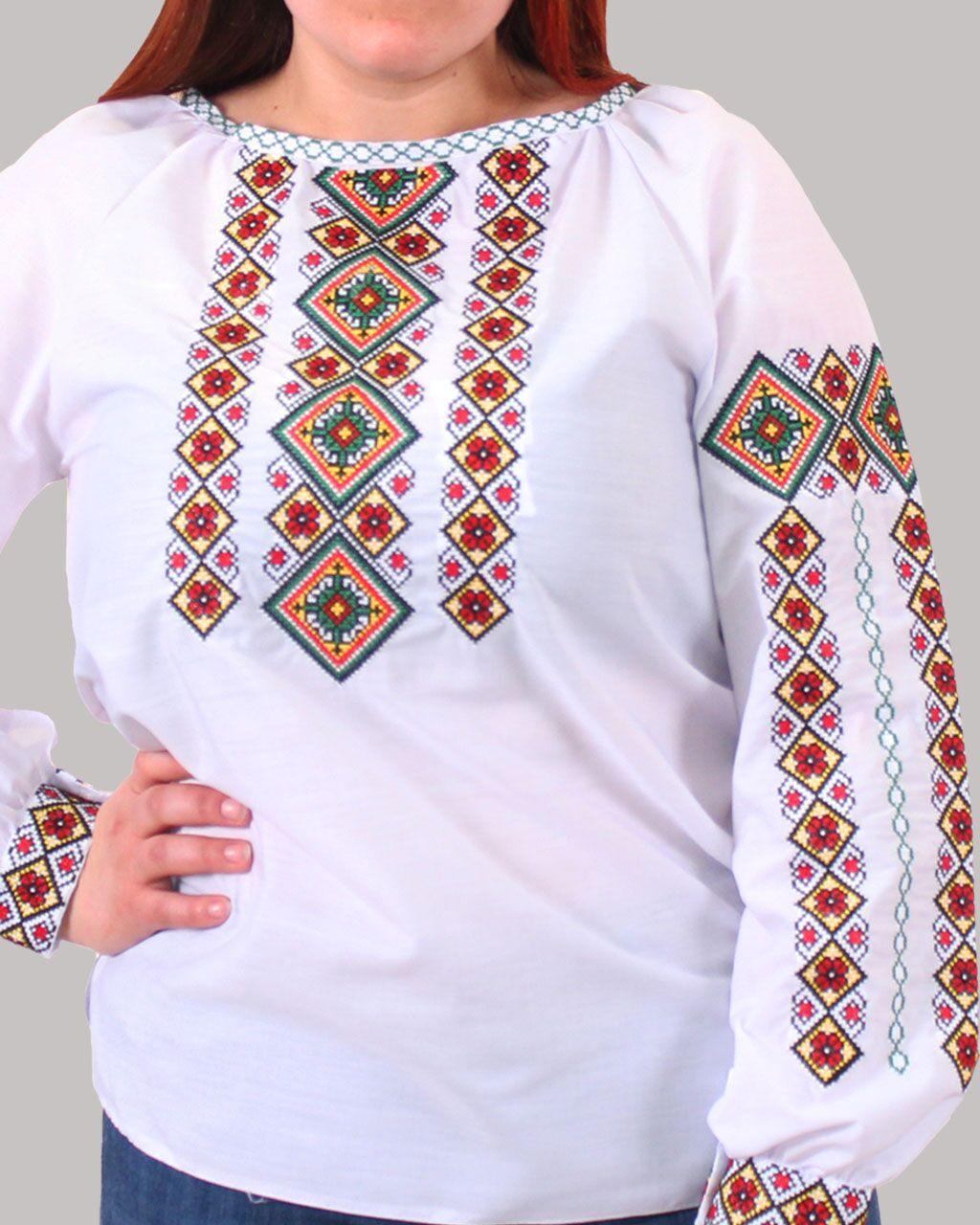 """Женская вышитая блуза """"Александра"""" №5, 44"""