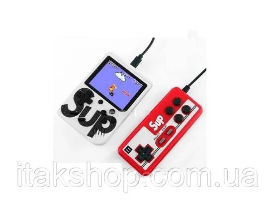 Портативная приставка с джойстиком Retro FC Game Box Sup dendy 400 in 1 консоль White