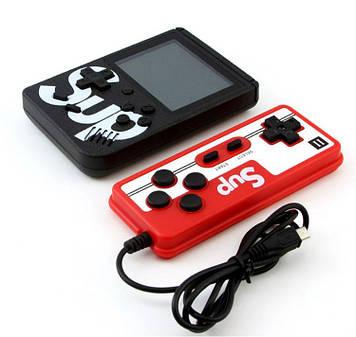 Игровая консоль ретро приставка с дополнительным джойстиком портативная с встроенными, 400, играми