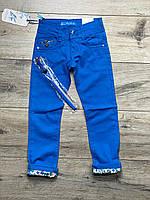 Катоновые брюки для девочек. 6 лет.