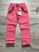 Катоновые брюки для девочек. 8 лет.