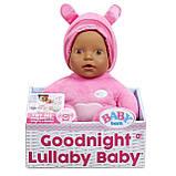 Мягкая Музыкальная Кукла Baby born Goodnight Lullaby Baby Девочка с карими глазами, фото 3