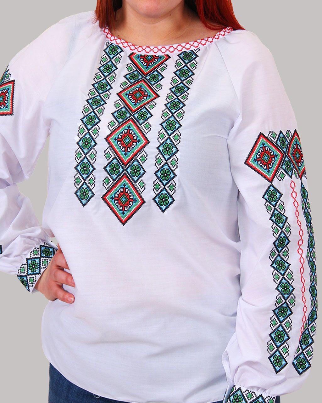 """Женская вышитая блуза """"Александра"""" №7, 44"""