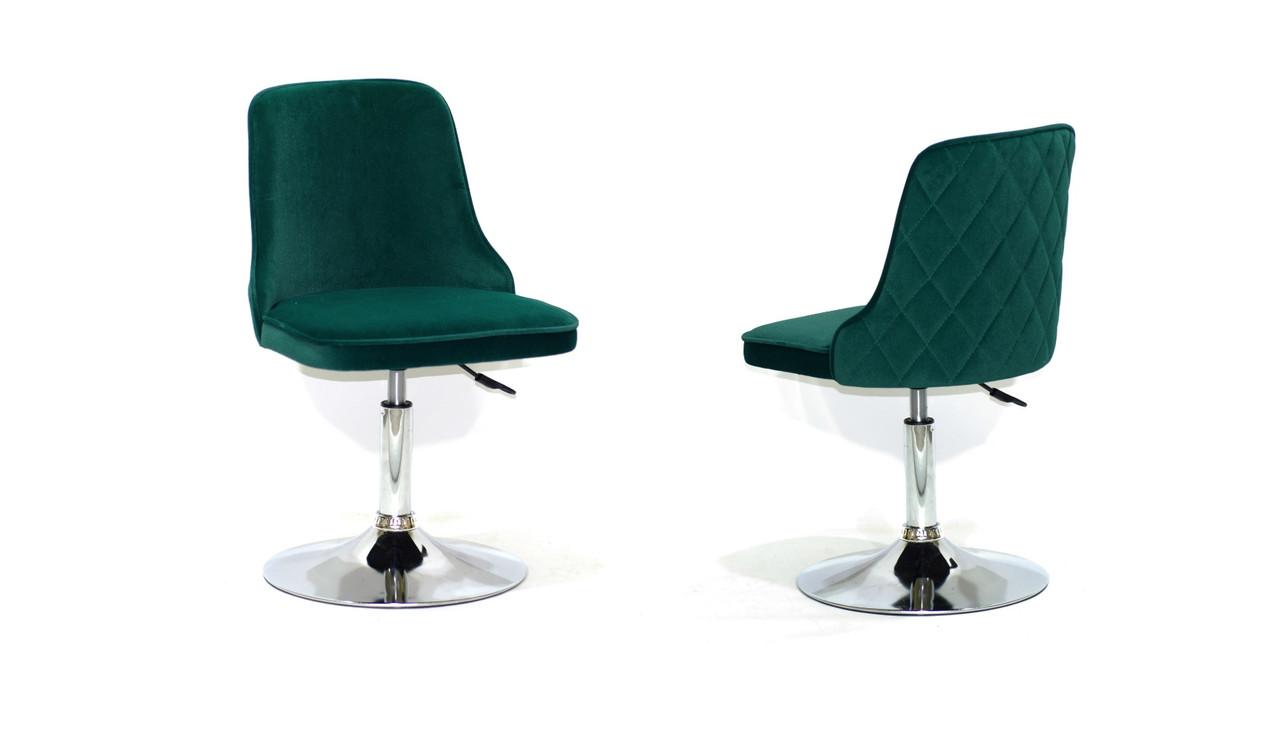 Кресло Адам ADAM CH-BASE зеленый бархат на  диске