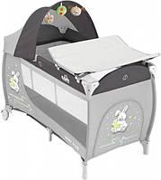 Манеж-кроватка DAILY PLUS, цвет серый