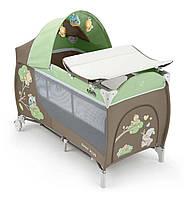 Манеж-кроватка DAILY PLUS, цвет зеленый