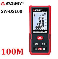 Лазерна рулетка Sndway SW-DS100 лазерний далекомір на 100 метрів відображення кута нахилу