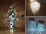 Камни для декора круглые плоские большие цветные 3,5х0,7 см, фото 3
