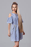 Платье мод. 515-2,размер  46 синее