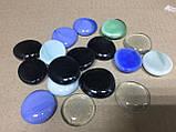Камни для декора круглые плоские большие цветные 3,5х0,7 см, фото 2