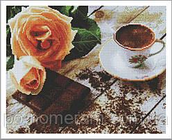 Алмазная вышивка Алмазна мозаїка Утренний кофе (GF2084) 40 х 50 см