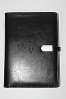 Набор ежедневник со встроенным POWER BANK 16 gb флешка ручка и коробка с беспроводной и проводной зарядкой