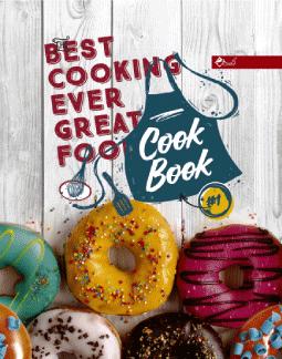 Книга для записи кулинарных рецептов  в твердой обложке