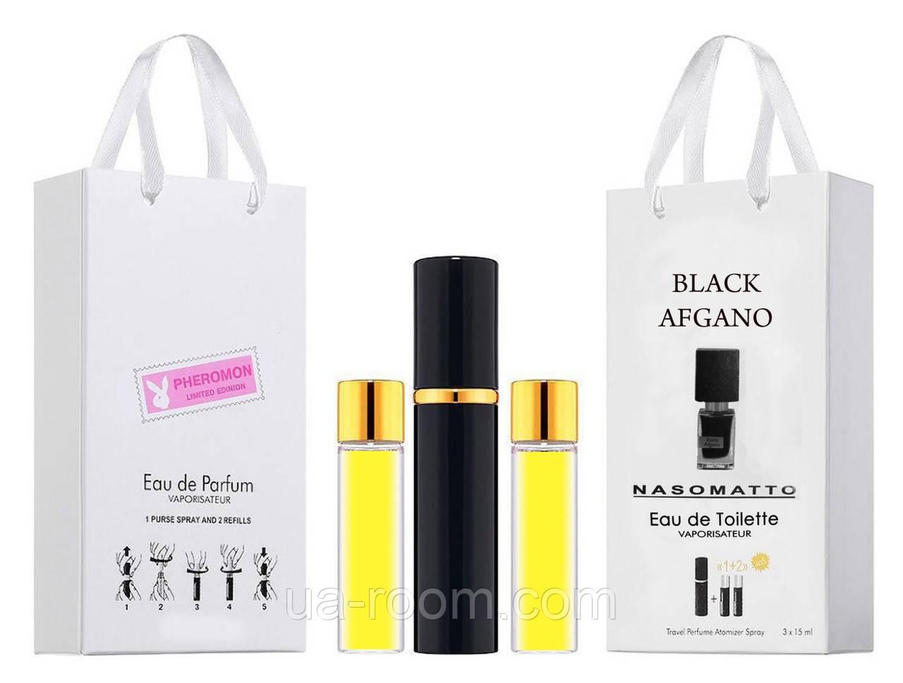 Мини-парфюм унисекс Nasomatto Black Afgano, 3х15 мл