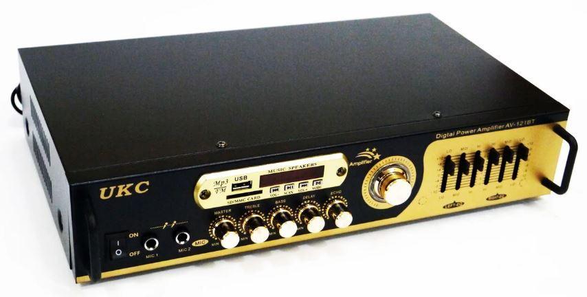 Купить Усилитель звука UKC AV-121BT с караоке и Bluetooth