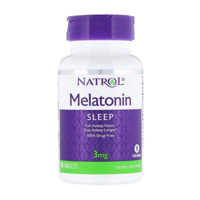 Мелатонин Natrol Melatonin 3 mg (60 таб) натрол