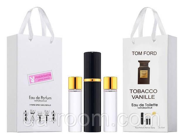Мини-парфюм унисекс Tom Ford Tobacco Vanille, 3х15 мл, фото 2