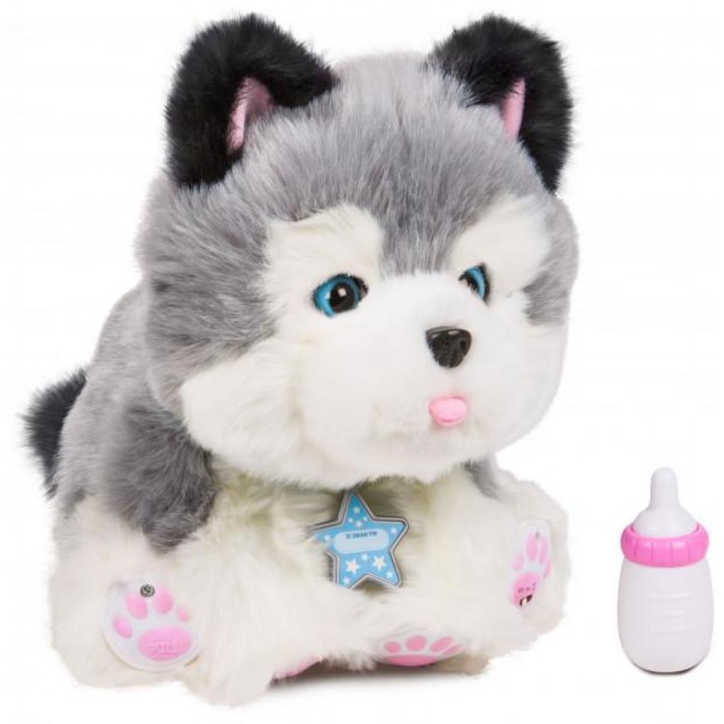 Интерактивная игрушка Moose Little Live Pets Ласковый щенок хаски Фрости (28278)