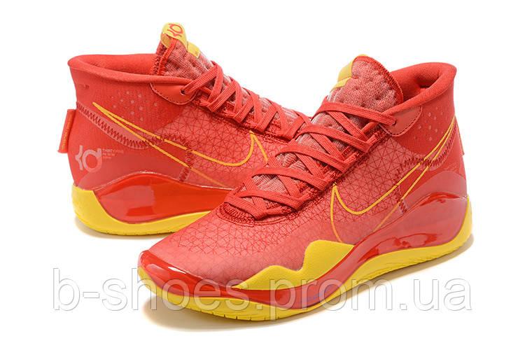 Мужские Баскетбольные кроссовки Nike KD  12(Red/yellow)