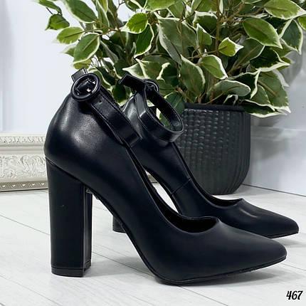 Молодежные туфли на каблуке, фото 2
