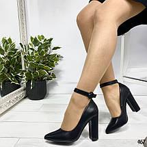 Молодежные туфли на каблуке, фото 3
