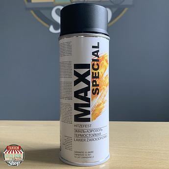 Краска (эмаль) термостойкая до 650°C Maxi Special, 400 мл Аэрозоль Черный